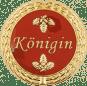 Auflage mit Königinschriftzug rot
