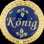 Auflage mit Königschriftzug blau