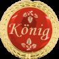 Auflage mit Königschriftzug rot