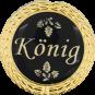Auflage mit Königschriftzug schwarz