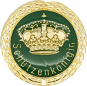 Auflage mit Krone + Schützenköniginschriftzug grün