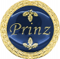 Auflage mit Prinzschriftzug blau
