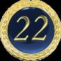 Auflage mit Schriftzug 22 Jahre blau