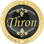 Auflage Thron schwarz