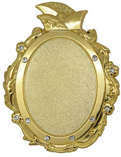 Narrenbrosche 3D-geprägt gold