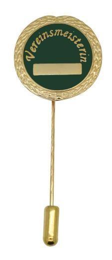 "Anstecknadel ""Vereinsmeisterin"" gold"