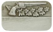 Meisterschaftabzeichen Revolver altsilber