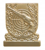 Meisterschaftabzeichen Revolver gold