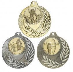 """Medaille """"Vergina"""" Ø 50mm mit Wunschemblem und Band"""