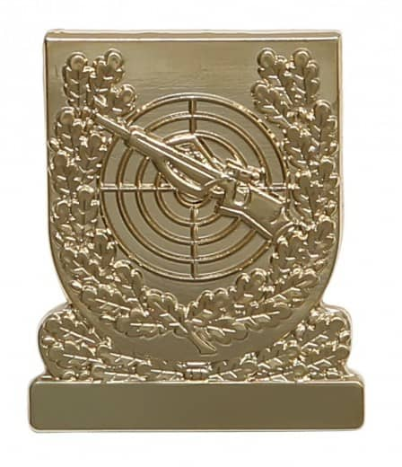 Meisterschaftabzeichen Armbrust gold