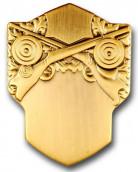 Schützenabzeichen 3 altgold