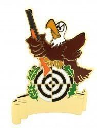 Pin Adler mit Gewehr und Gravurfläche