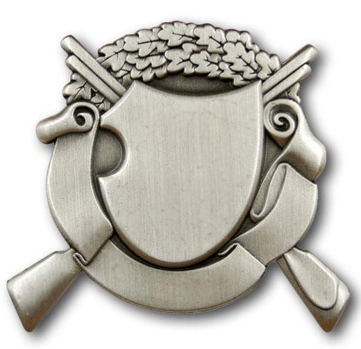 Schützenabzeichen 1 altsilber