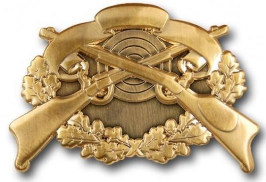 Schützenabzeichen 4 altgold