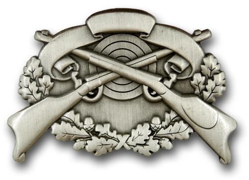 Schützenabzeichen 4 altsilber