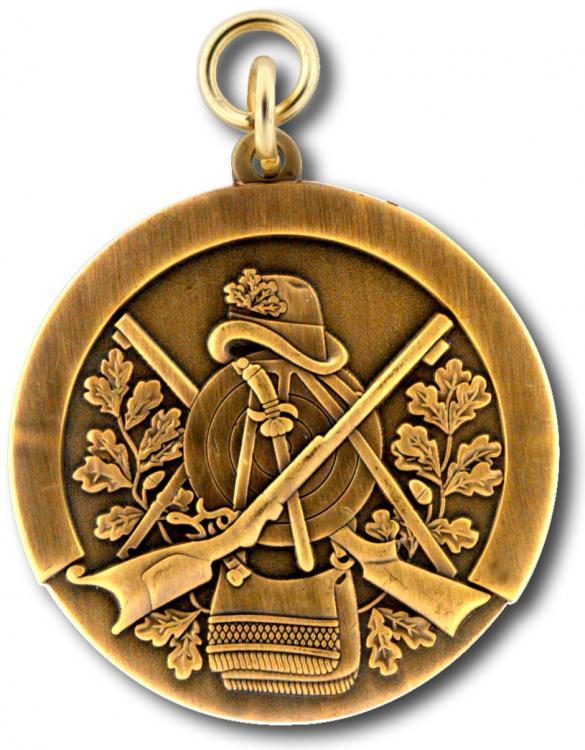 Schützenmedaille 7 altgold