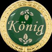Auflage mit Königschriftzug grün