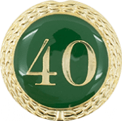 Auflage mit Zahl 40 grün