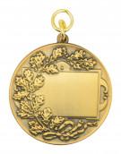 Schützenmedaille 6 altgold
