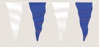 Wimpelkette blau-weiß aus Stoff (Meterware)