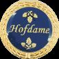 Auflage Hofdame blau
