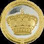 Auflage Krone silber/gold