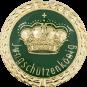 Auflage mit Krone + Jungschützenkönigschriftzug grün