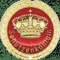 Auflage mit Krone + Schützenköniginschriftzug rot