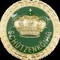 Auflage mit Krone + Schützenkönigschriftzug grün