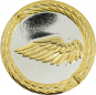 Auflage linker Flügel silber/gold