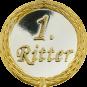 Auflage mit 1. Ritterschriftzug silber/gold