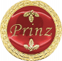 Auflage mit Prinzschriftzug rot