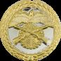 Auflage mit Schützenmotiv silber/gold
