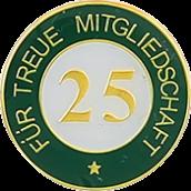 Auflage treue Mitgliedschaft 25