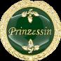 Auflage mit Prinzessinschriftzug grün