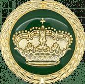 Auflage Krone grün