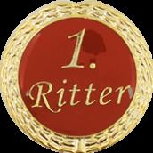 Auflage mit 1. Ritterschriftzug rot
