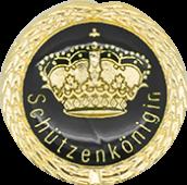 Auflage mit Krone + Schützenköniginschriftzug schwarz
