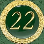 Auflage mit Schriftzug 22 Jahre grün