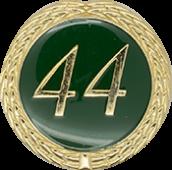 Auflage mit Schriftzug 44 Jahre grün