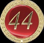 Auflage mit Schriftzug 44 Jahre rot