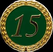Auflage mit Zahl 15 grün