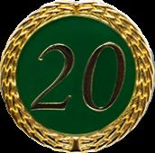 Auflage mit Zahl 20 grün