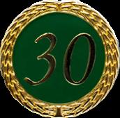 Auflage mit Zahl 30 grün