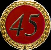 Auflage mit Zahl 45 rot