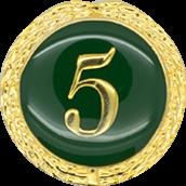 Auflage mit Zahl 5 grün
