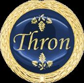 Auflage Thron blau