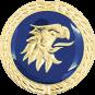 Auflage Adlerkopf blau