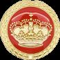 Auflage Krone rot