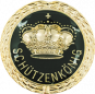 Auflage mit Krone + Schützenkönigschriftzug schwarz